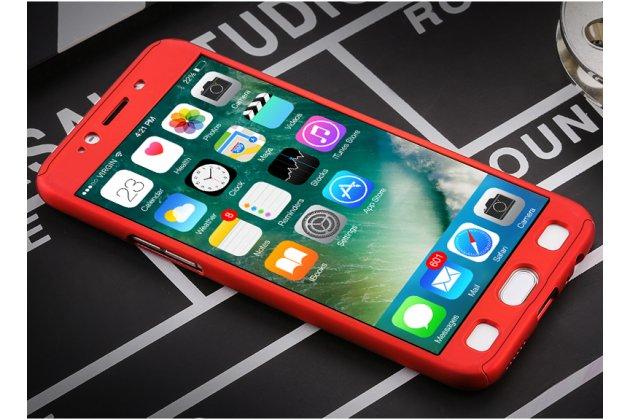 Фирменный уникальный чехол-бампер-панель с полной защитой дисплея и телефона по всем краям и углам для Samsung Galaxy J3 Prime SM-J330F/Samsung Galaxy J3 (2017) SM-J330F красный