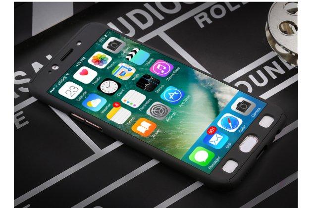 Фирменный уникальный чехол-бампер-панель с полной защитой дисплея и телефона по всем краям и углам для Samsung Galaxy J3 Prime SM-J330F/Samsung Galaxy J3 (2017) SM-J330F черный