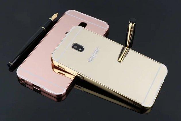Фирменная металлическая задняя панель-крышка-накладка из тончайшего облегченного авиационного алюминия для Samsung Galaxy J3 Prime SM-J330F/Samsung Galaxy J3 (2017) SM-J330F золотая
