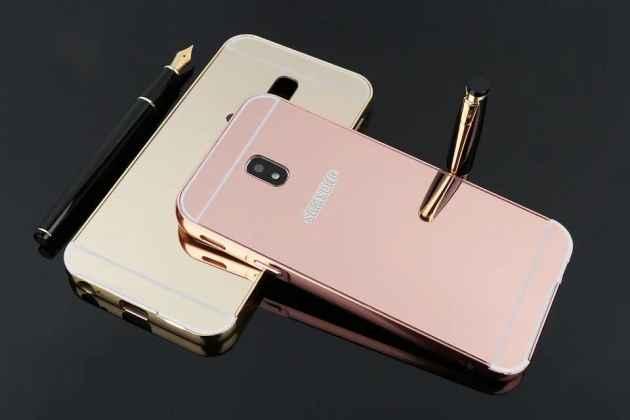 Фирменная металлическая задняя панель-крышка-накладка из тончайшего облегченного авиационного алюминия для Samsung Galaxy J3 Prime SM-J330F/Samsung Galaxy J3 (2017) SM-J330F розовое золото