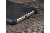 """Фирменная премиальная элитная крышка-накладка из тончайшего прочного пластика и качественной импортной кожи  для Samsung Galaxy J3 (2017) SM-J330F  """"Ретро под старину"""" серая"""
