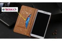 Фирменный чехол-книжка из качественной импортной кожи с мульти-подставкой застёжкой и визитницей для Samsung Galaxy J3 Prime SM-J330F/Samsung Galaxy J3 (2017) SM-J330F коричневый