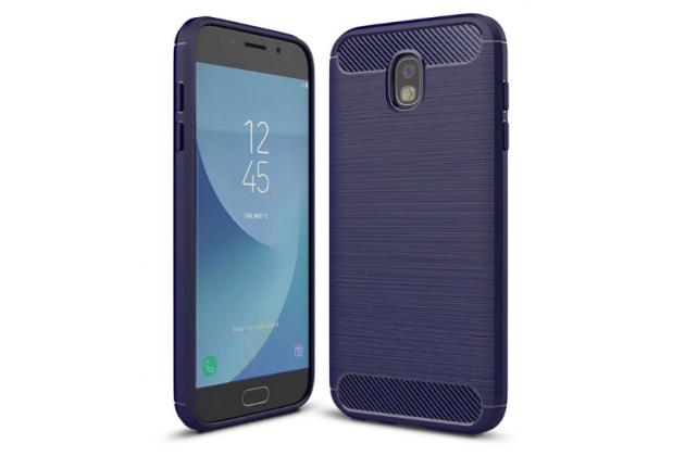 Фирменная ультра-тонкая полимерная из мягкого качественного силикона задняя панель-чехол-накладка для Samsung Galaxy J3 Prime SM-J330F/Samsung Galaxy J3 (2017) SM-J330F синяя