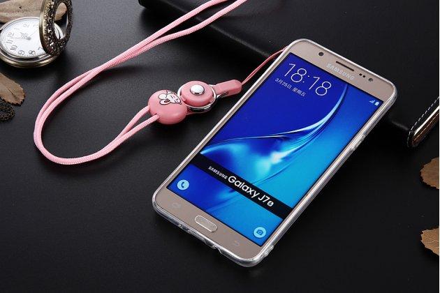 Фирменная уникальная задняя панель-крышка-накладка из тончайшего силикона для Samsung Galaxy J5 2016 SM-J510H/DS/ J510F/DS с объёмным 3D рисунком тематика Голубая Бабочка