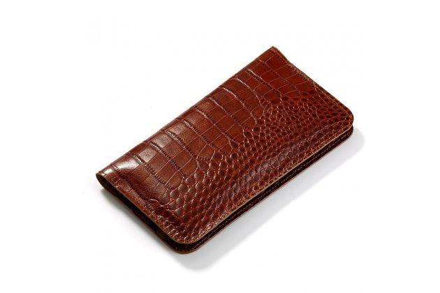 Фирменный чехол-портмоне-клатч-кошелек на силиконовой основе из качественной импортной кожи для Samsung Galaxy J5 2016 SM-J510H/DS/ J510F/DS коричневый