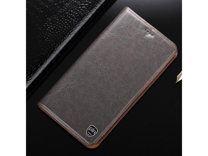 Фирменный чехол-книжка из качественной импортной кожи с подставкой застёжкой и визитницей для Samsung Galaxy J..