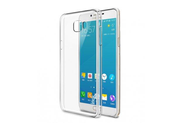 Фирменная ультра-тонкая полимерная из мягкого качественного силикона задняя панель-чехол-накладка для Samsung Galaxy C7 Pro SM-C7010 прозрачная