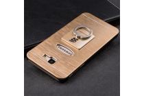 Фирменная металлическая задняя панель-крышка-накладка из тончайшего облегченного авиационного алюминия для Samsung Galaxy J5 Prime/ Samsung Galaxy On5 2016 золотая