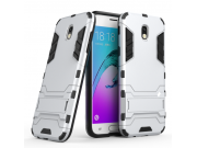Противоударный усиленный ударопрочный фирменный чехол-бампер-пенал для Samsung Galaxy J7 (2017) SM-J730F / Sam..