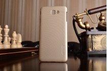 """Фирменная задняя панель-крышка-накладка из тончайшего и прочного пластика для Samsung Galaxy J7 Prime SM-G610F/DS 5.5""""  золотая"""