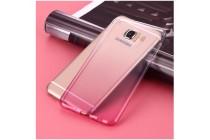 """Фирменная ультра-тонкая полимерная задняя панель-чехол-накладка из силикона для Samsung Galaxy J7 Prime SM-G610F/DS 5.5"""" прозрачная с эффектом грозы"""