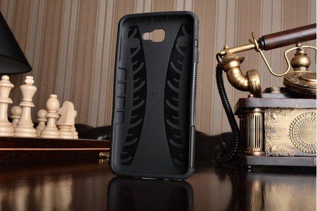 """Противоударный усиленный ударопрочный фирменный чехол-бампер-пенал для Samsung Galaxy J7 Prime SM-G610F/DS 5.5""""  черный"""