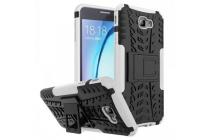 """Противоударный усиленный ударопрочный фирменный чехол-бампер-пенал для Samsung Galaxy J7 Prime SM-G610F/DS 5.5"""" белый"""
