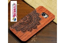 Фирменная оригинальная деревянная из натурального бамбука задняя панель-крышка-накладка для Samsung Galaxy S7 G930 / G9300 5.1 с рисунком Эклектические Узоры