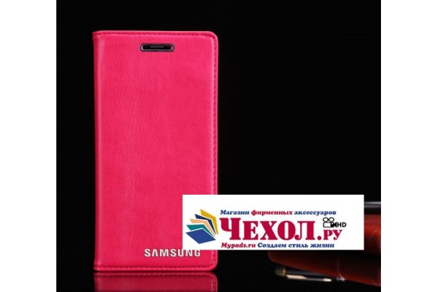 """Фирменный премиальный элитный чехол-книжка из качественной импортной кожи с мульти-подставкой и визитницей для Samsung Galaxy S7 G930 / G9300 5.1  """"Ретро"""" розовый"""