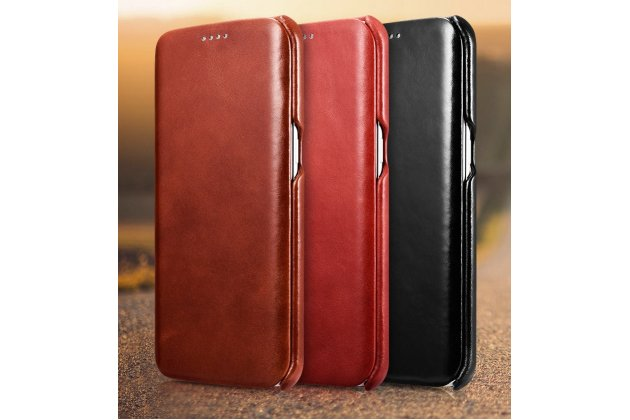 Фирменный премиальный чехол бизнес класса для Samsung Galaxy S7 G930 / G9300 5.1 из качественной импортной кожи коричневый