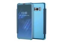 Чехол-книжка с дизайном Clear View Cover полупрозрачный с зеркальной поверхностью для Samsung Galaxy S8 SM-G9500 синий
