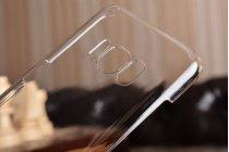 Фирменная задняя панель-крышка-накладка из тончайшего и прочного пластика для Samsung Galaxy S8 SM-G9500 прозрачная