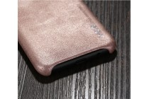 Фирменная премиальная элитная крышка-накладка из тончайшего прочного пластика и качественной импортной кожи  для Samsung Galaxy S8 SM-G9500 Ретро под старину золотая