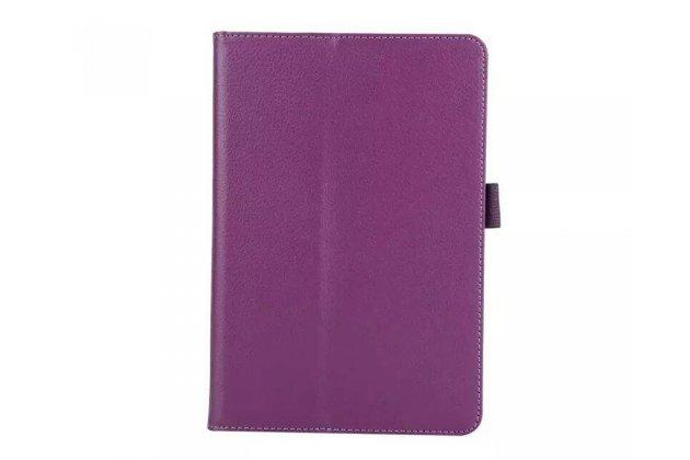 Фирменный чехол-обложка с подставкой для Samsung Galaxy Tab A 10.1 2016 SM-P580/P585 S-Pen фиолетовый кожаный