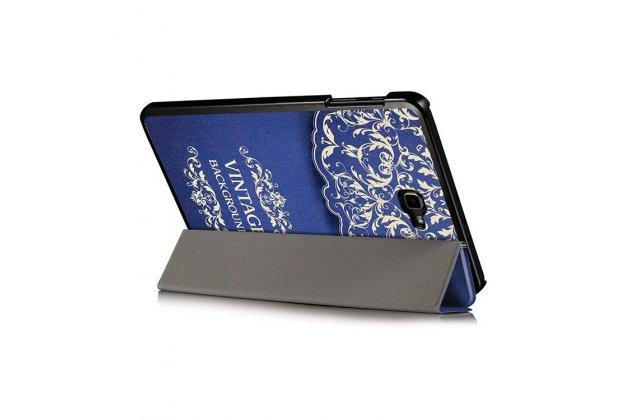 Фирменный необычный чехол для Samsung Galaxy Tab A 10.1 2016 SM-P580/P585 S-Pen тематика книга в Винтажном стиле