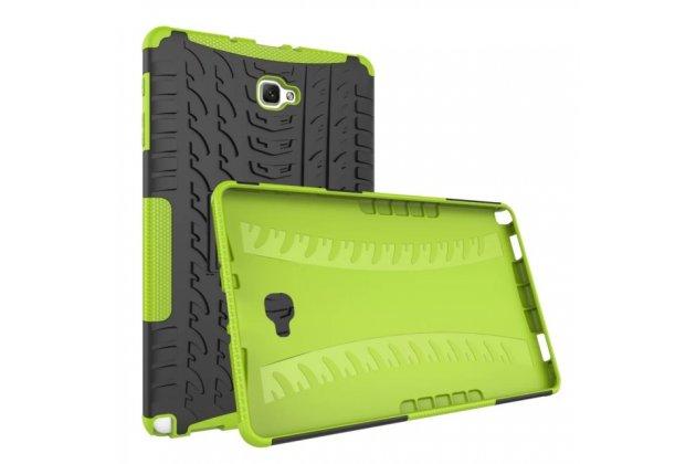 Противоударный усиленный ударопрочный фирменный чехол-бампер-пенал для Samsung Galaxy Tab A 10.1 2016 SM-P580/P585 S-Pen зеленый