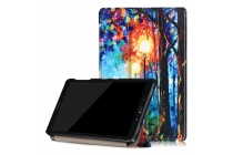 Фирменный необычный чехол для Samsung Galaxy Tab A 10.1 2016 SM-P580/P585 S-Pen тематика Сказочный лес