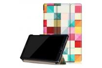 Фирменный необычный чехол для Samsung Galaxy Tab A 10.1 2016 SM-P580/P585 S-Pen тематика яркая Мозаика