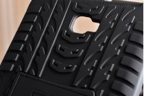Противоударный усиленный ударопрочный фирменный чехол-бампер-пенал для Samsung Galaxy Tab A 10.1 2016 SM-T580 / T585C / T585N черный