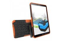 Противоударный усиленный ударопрочный фирменный чехол-бампер-пенал для Samsung Galaxy Tab A 10.1 2016 SM-T580 / T585C / T585N оранжевый