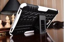 Противоударный усиленный ударопрочный фирменный чехол-бампер-пенал для Samsung Galaxy Tab A 10.1 2016 SM-T580 / T585C / T585N  белый