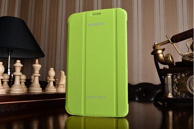 Чехол с логотипом для Samsung Galaxy Tab A 2016 7.0 SM-T285/ T280 / T280N / T288 / T285C с дизайном  Book Cover зеленый