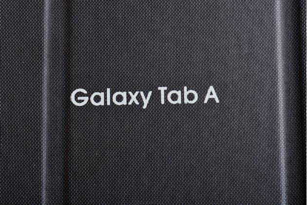 Чехол с логотипом для Samsung Galaxy Tab A 2016 7.0 SM-T285/ T280 / T280N / T288 / T285C с дизайном  Book Cover черный