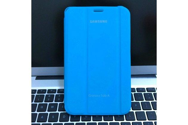 Чехол с логотипом для Samsung Galaxy Tab A 2016 7.0 SM-T285/ T280 / T280N / T288 / T285C с дизайном  Book Cover голубой
