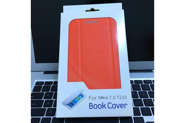 Чехол с логотипом для Samsung Galaxy Tab A 2016 7.0 SM-T285/ T280 / T280N / T288 / T285C с дизайном  Book Cover оранжевый