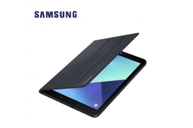 Фирменный оригинальный подлинный чехол с логотипом для Samsung Galaxy Tab S3 9.7 SM-T820/T825 Book Cover( EF-BT820PBEGRU) чёрного цвета