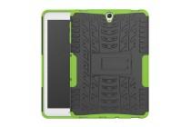 Противоударный усиленный ударопрочный фирменный чехол-бампер-пенал для Samsung Galaxy Tab S3 9.7 SM-T820/T825 зеленый