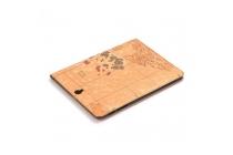 """Чехол-футляр для Samsung Galaxy Tab S3 9.7 SM-T820/T825 """"тематика карта мира"""" кожаный коричневый"""