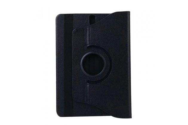 Чехол для планшета  Samsung Galaxy Tab S3 9.7 SM-T820/T825 поворотный роторный оборотный черный кожаный