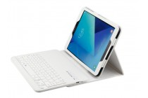 Фирменный чехол со съёмной Bluetooth-клавиатурой для Samsung Galaxy Tab S3 9.7 SM-T820/T825 белый кожаный + гарантия