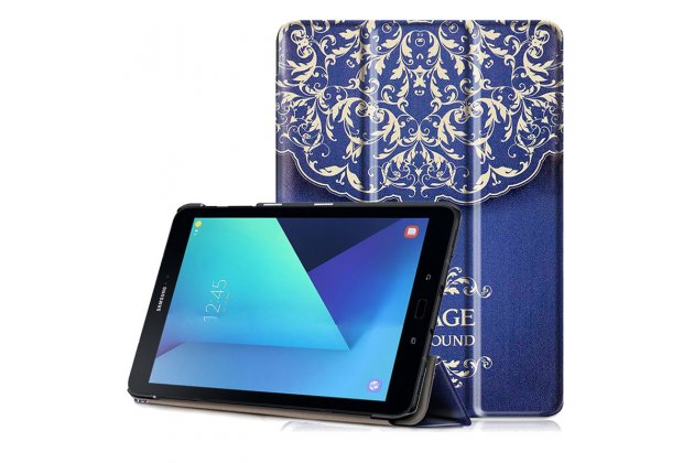 Фирменный необычный чехол для  Samsung Galaxy Tab S3 9.7 SM-T820/T825 тематика книга в Винтажном стиле