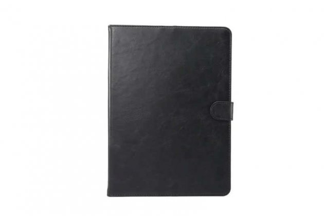 Фирменный премиальный чехол бизнес класса для Samsung Galaxy Tab S3 9.7 SM-T820/T825 с визитницей из качественной импортной кожи чёрный.