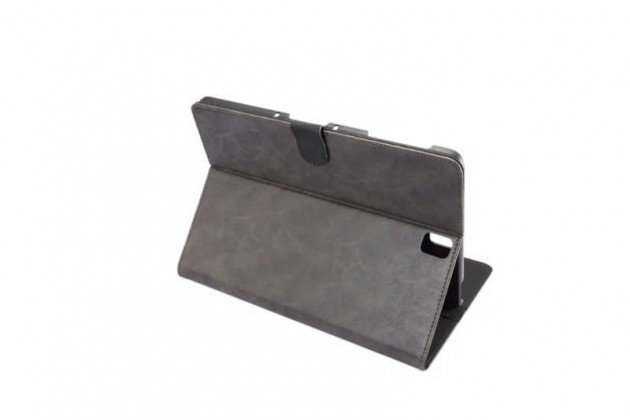 Фирменный премиальный чехол бизнес класса для Samsung Galaxy Tab S3 9.7 SM-T820/T825 с визитницей из качественной импортной кожи Ретро серый