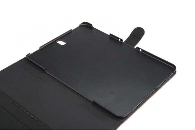 Фирменный премиальный чехол бизнес класса для Samsung Galaxy Tab S3 9.7 SM-T820/T825 с визитницей из качественной импортной кожи Ретро коричневый