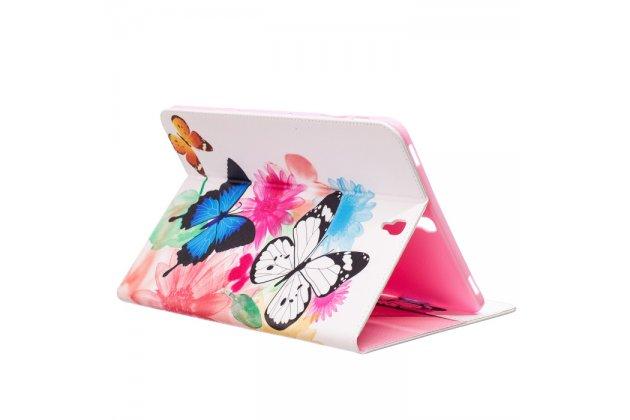 """Фирменный уникальный необычный чехол-книжка для Samsung Galaxy Tab S3 9.7 SM-T820/T825 """"тематика радужные Бабочки"""""""