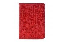 Лаковая блестящая кожа под крокодила чехол для Samsung Galaxy Tab S3 9.7 SM-T820/T825 алый огненный красный