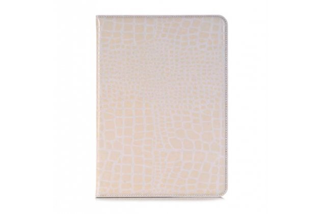 Лаковая блестящая кожа под крокодила чехол для Samsung Galaxy Tab S3 9.7 SM-T820/T825 белый.