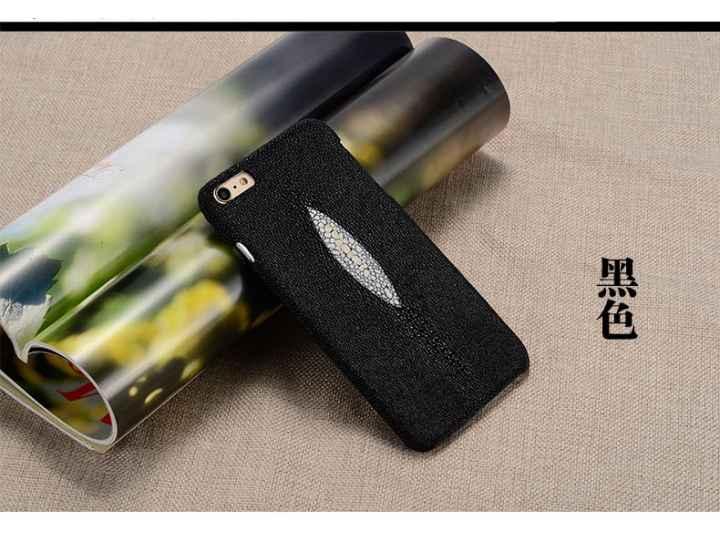 Фирменная роскошная эксклюзивная накладка  из натуральной рыбьей кожи СКАТА (с жемчужным блеском) чёрный для S..
