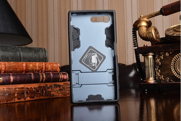 """Противоударный усиленный ударопрочный фирменный чехол-бампер-пенал для Sony Xperia X Compact 4.6"""" ( F5321/ F5321RU) черный"""
