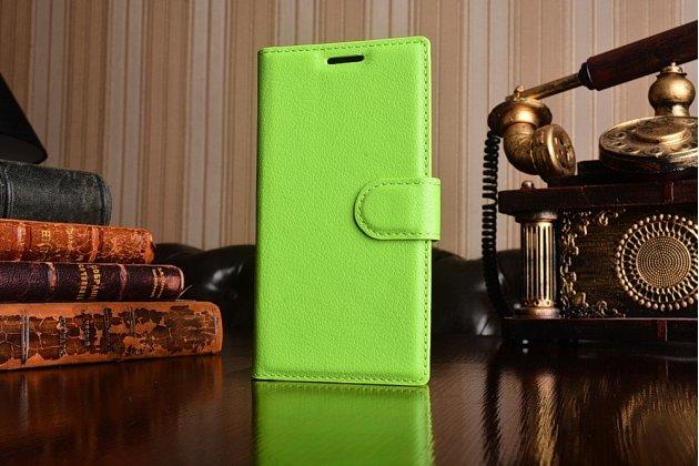 """Фирменный чехол-книжка из качественной импортной кожи с подставкой застёжкой и визитницей для Sony Xperia X Compact 4.6"""" ( F5321/ F5321RU) зеленый"""